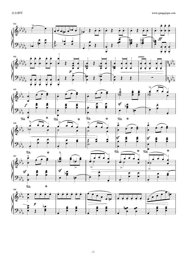 降E大调 华丽大圆舞曲 Op.18钢琴谱 第7页