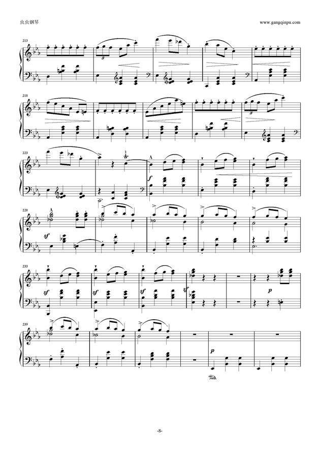 降E大调 华丽大圆舞曲 Op.18钢琴谱 第8页
