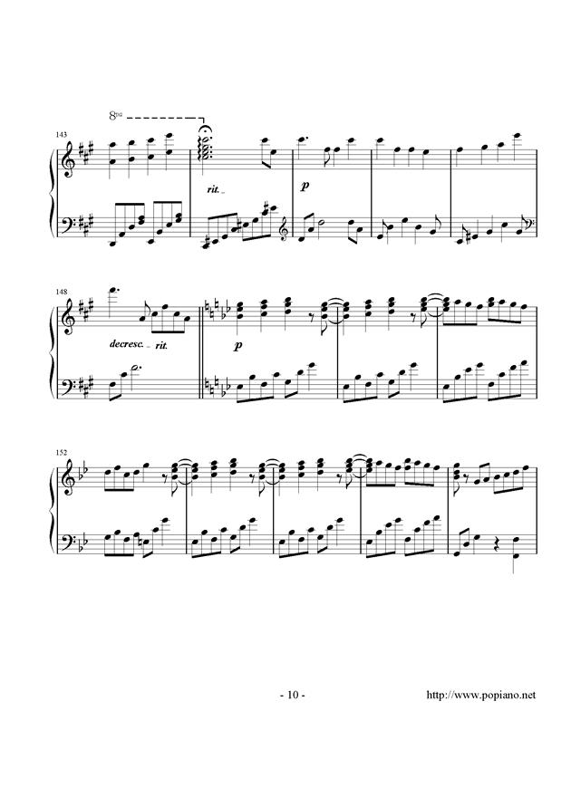 西行春风梦钢琴谱 第10页