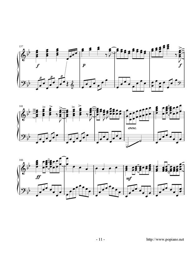 西行春风梦钢琴谱 第11页