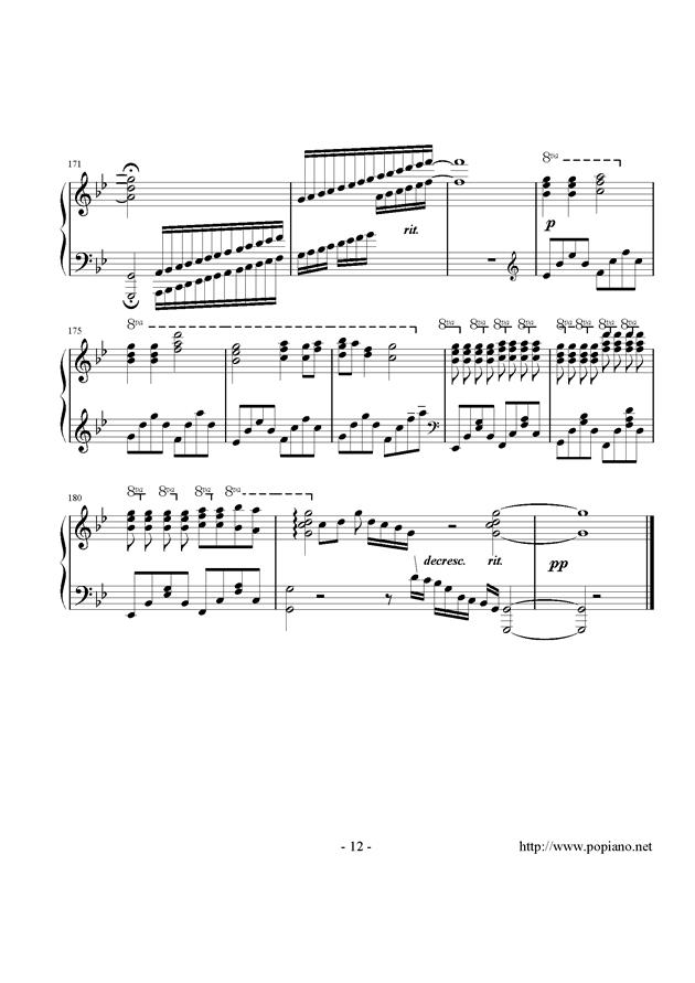 西行春风梦钢琴谱 第12页