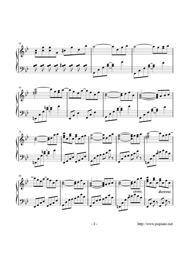 西行春风梦钢琴谱 第2页