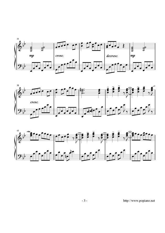 西行春风梦钢琴谱 第3页