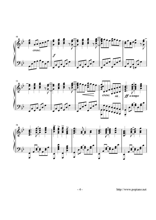 西行春风梦钢琴谱 第4页