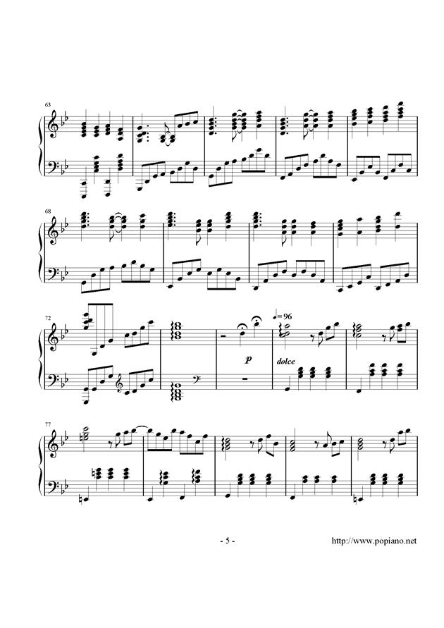 西行春风梦钢琴谱 第5页