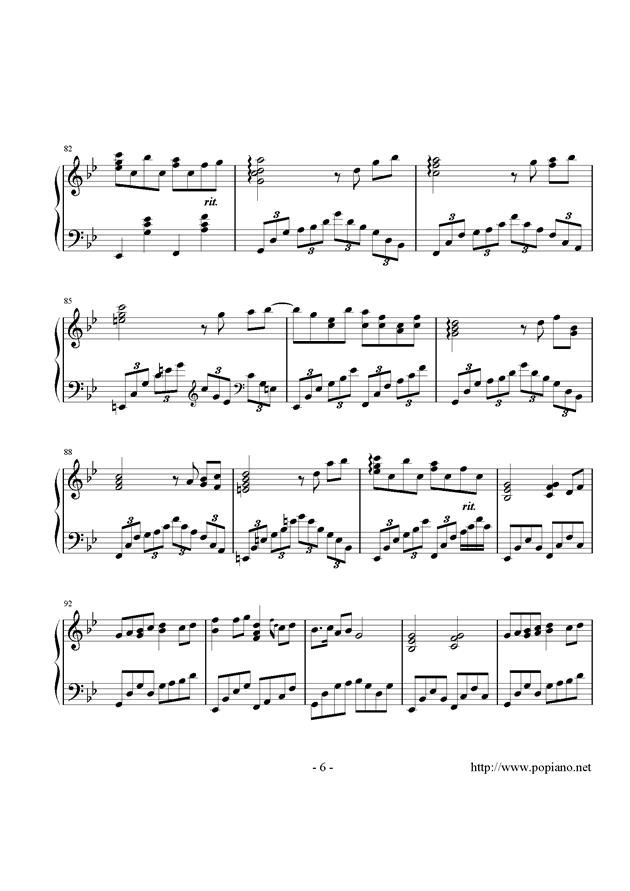 西行春风梦钢琴谱 第6页