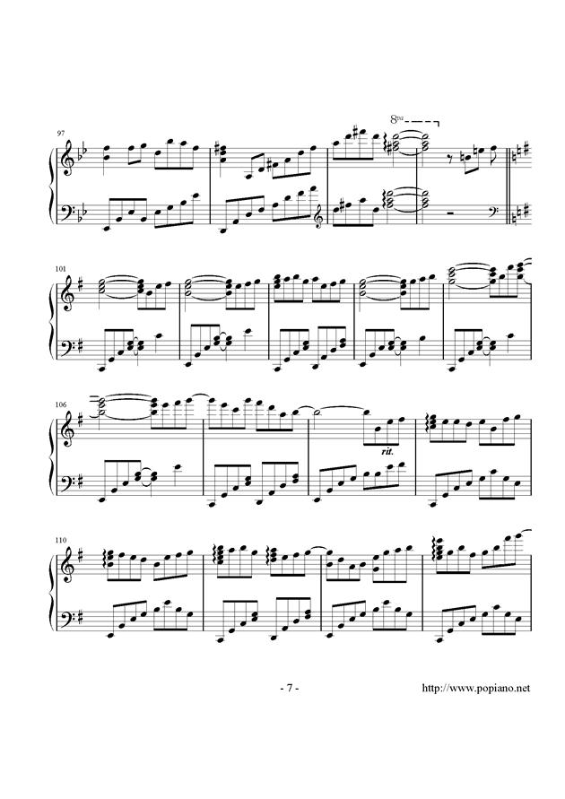 西行春风梦钢琴谱 第7页