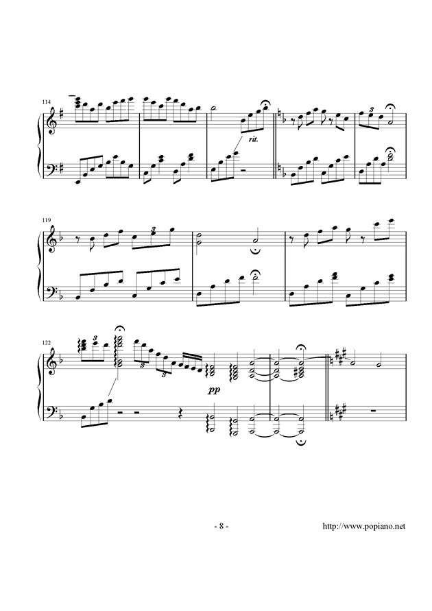 西行春风梦钢琴谱 第8页