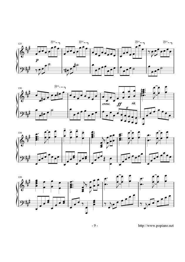 西行春风梦钢琴谱 第9页