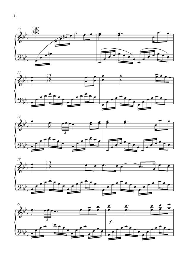 黑暗中的光明钢琴谱 第2页