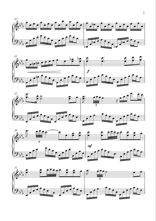黑暗中的光明钢琴谱 第5页