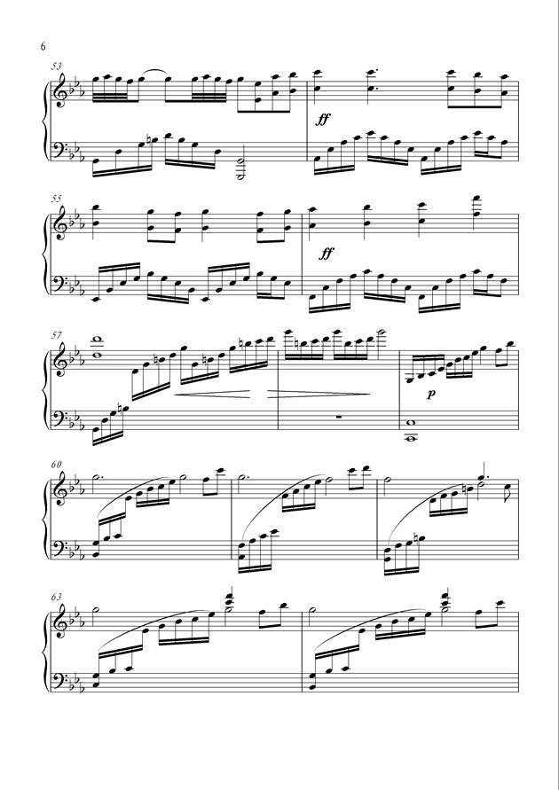 黑暗中的光明钢琴谱 第6页