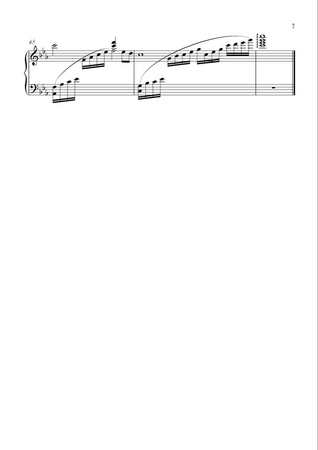 黑暗中的光明钢琴谱 第7页