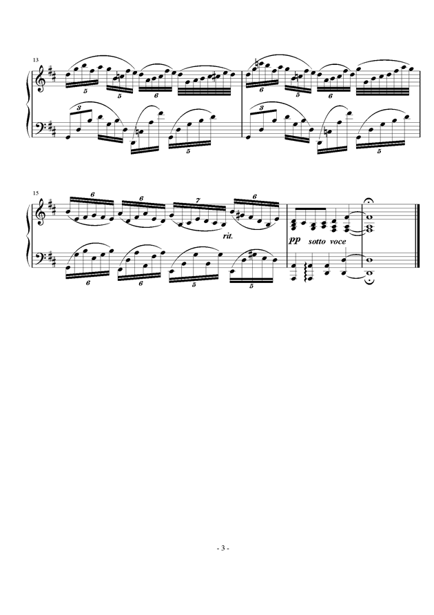 不均等练习曲钢琴谱 第3页