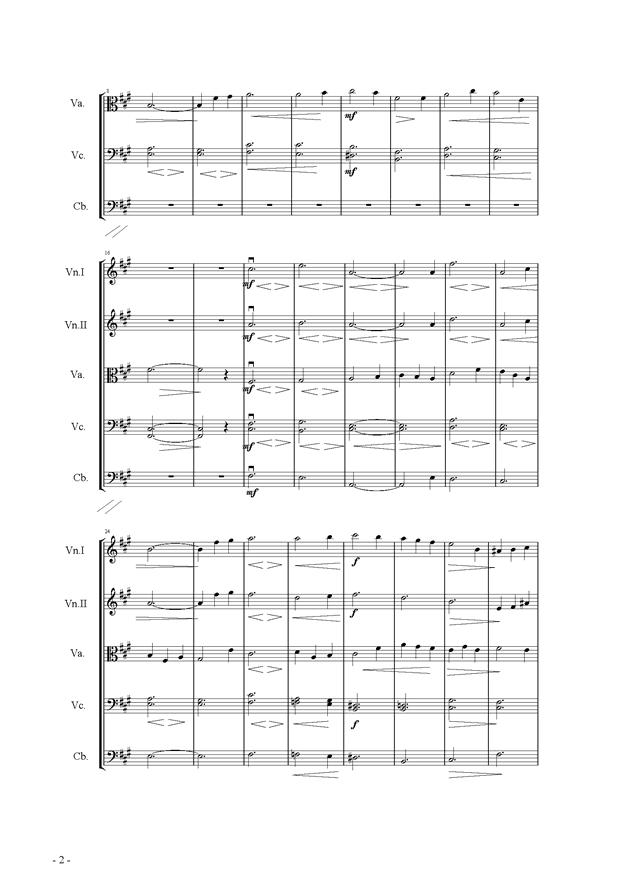 呼唤钢琴谱 第2页