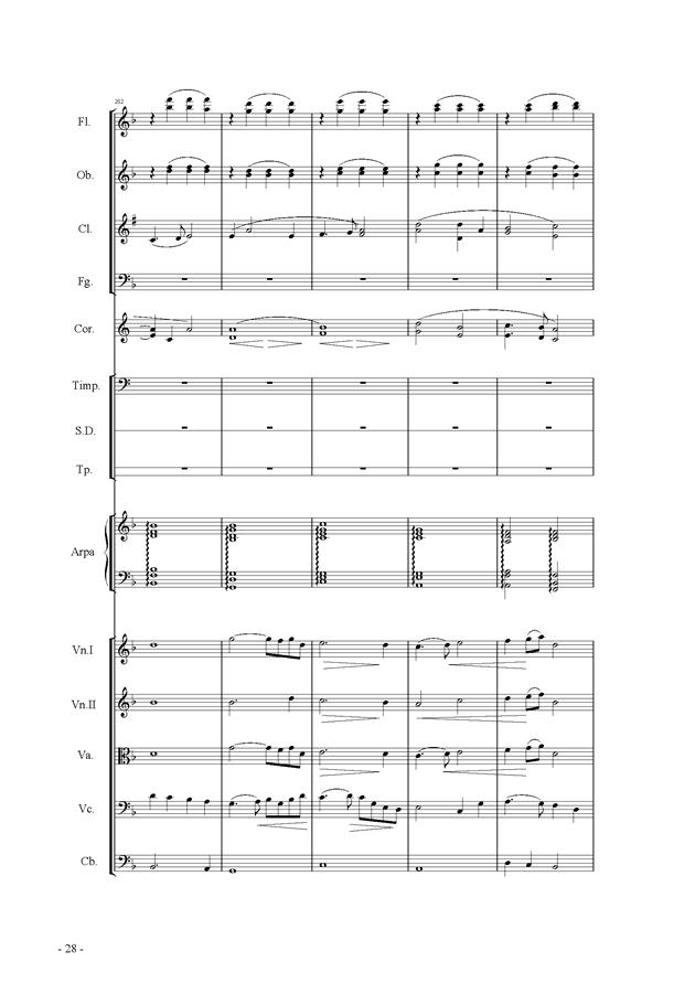 呼唤钢琴谱 第28页
