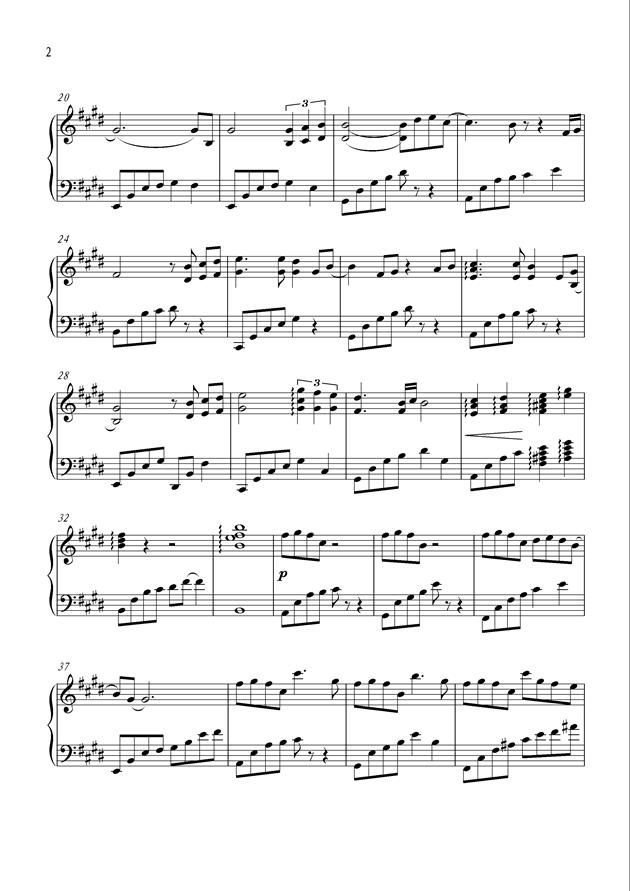 Until Forever钢琴谱 第2页