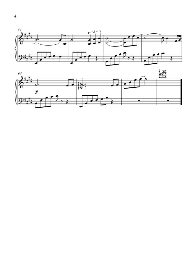 Until Forever钢琴谱 第4页
