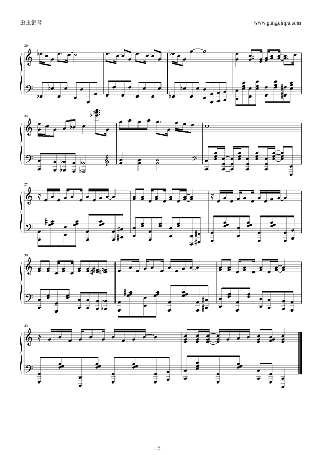 The Athletes Rag钢琴谱 第2页