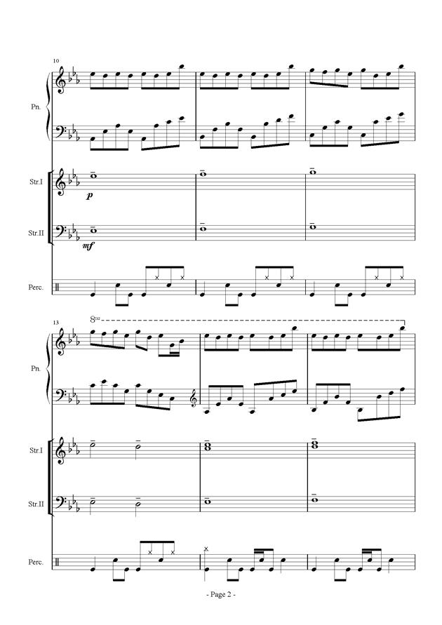 时间钢琴谱 第2页