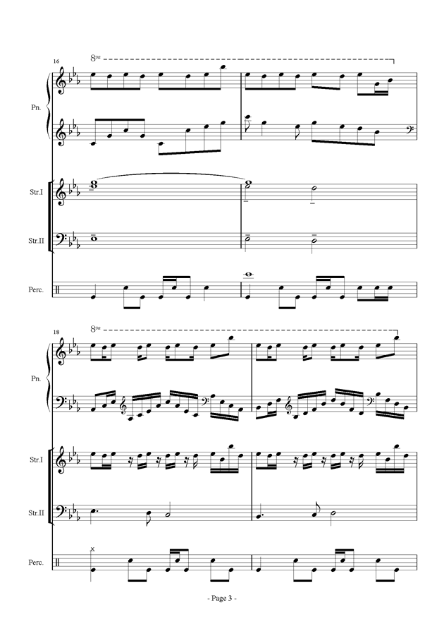 时间钢琴谱 第3页