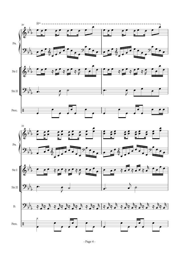 时间钢琴谱 第4页