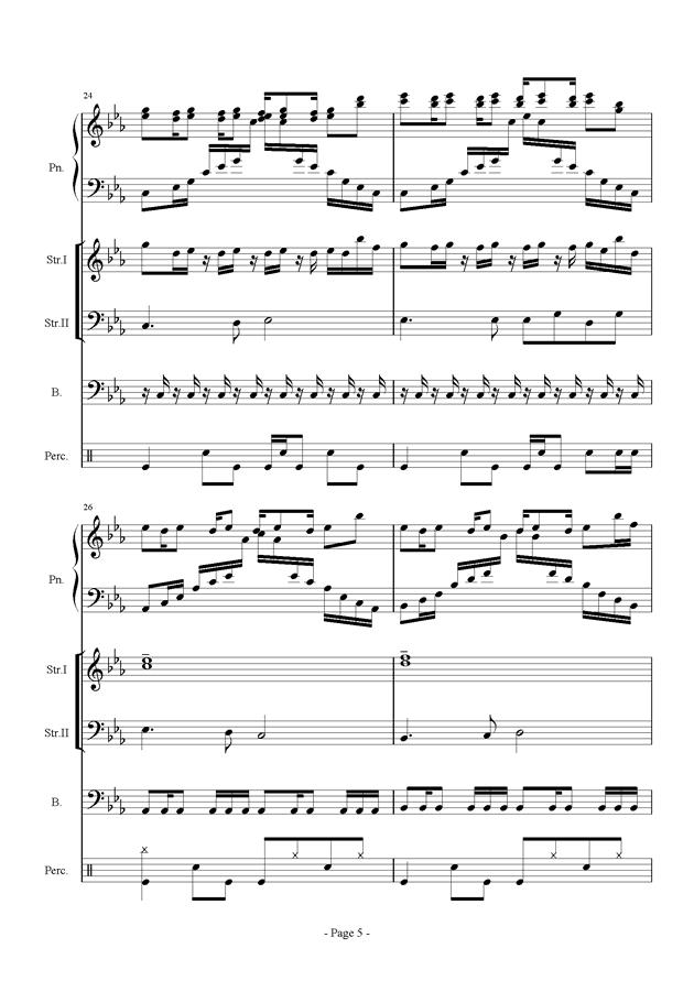 时间钢琴谱 第5页