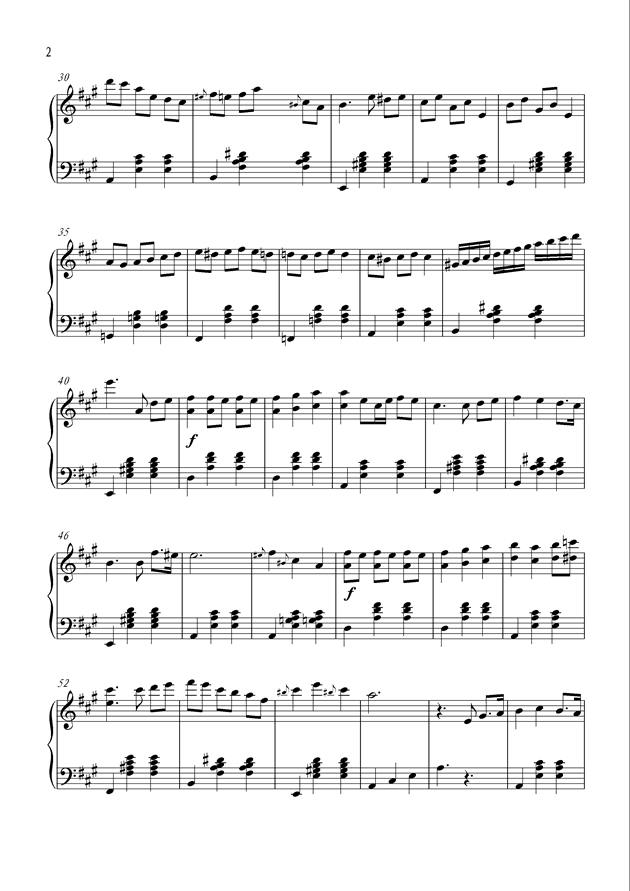 Happy Summer钢琴谱 第2页