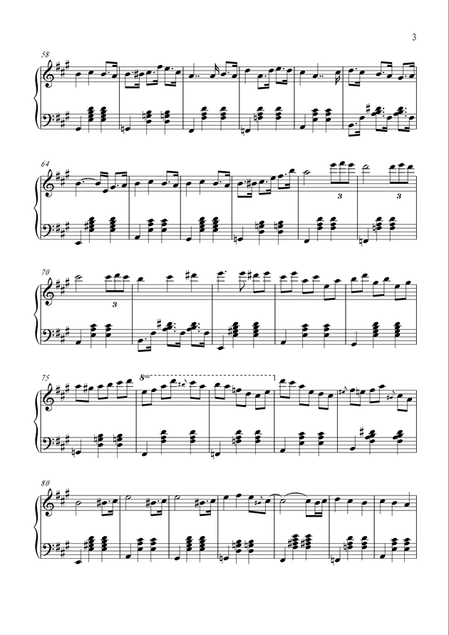 Happy Summer钢琴谱 第3页