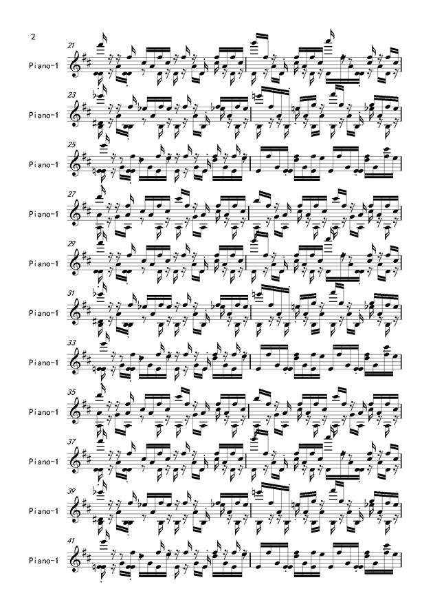 魔法密林怪物区钢琴谱 第2页