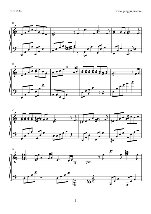 季节的回旋钢琴谱 第2页