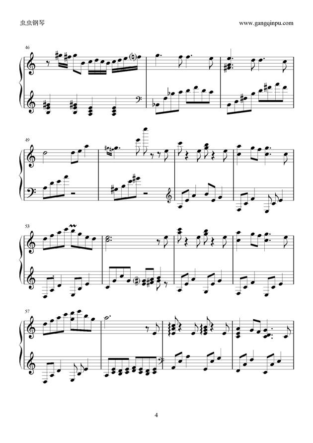 季节的回旋钢琴谱 第4页