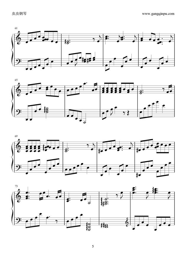 季节的回旋钢琴谱 第5页