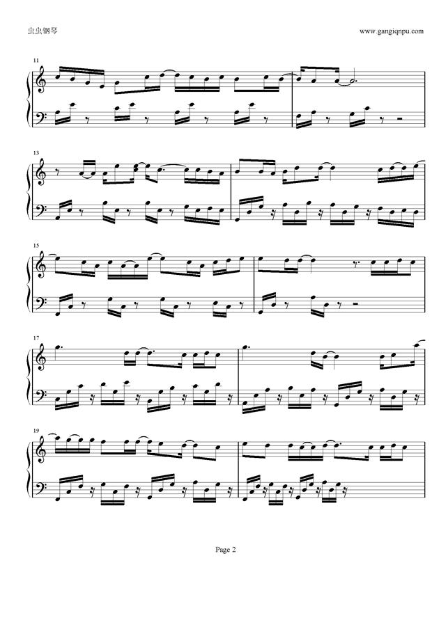 多远都要在一起钢琴谱 第2页