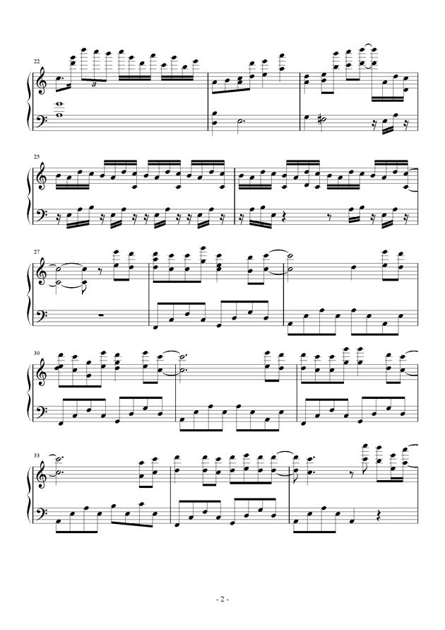 进�牡木奕�(�M�膜尉奕�)(Attack On Titan)- eye-water钢琴谱 第2页