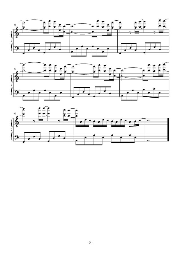 进�牡木奕�(�M�膜尉奕�)(Attack On Titan)- eye-water钢琴谱 第3页