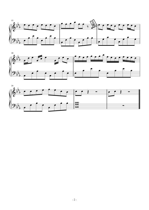 ��落之翼钢琴谱 第2页