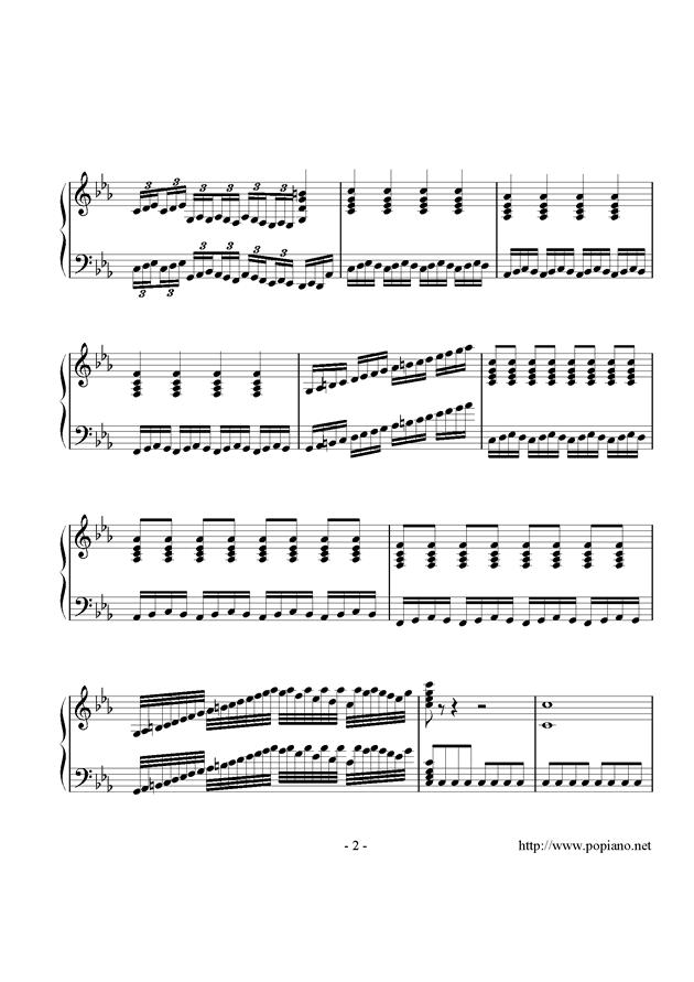 炫彩曲钢琴谱 第2页