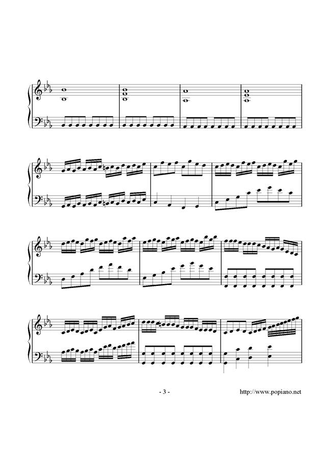 炫彩曲钢琴谱 第3页