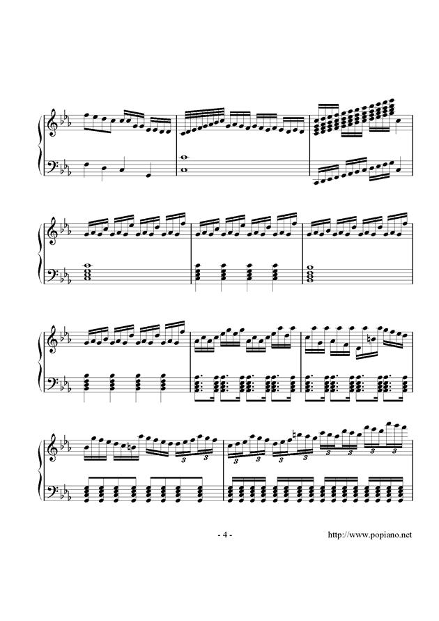 炫彩曲钢琴谱 第4页