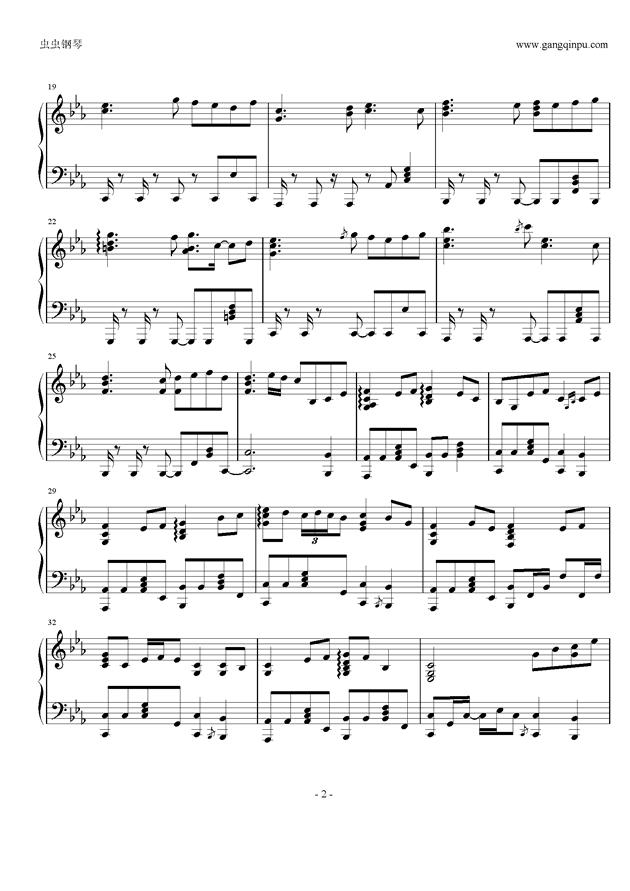 �Z月钢琴谱 第2页