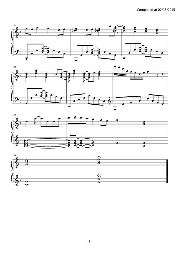 カラフル钢琴谱 第3页