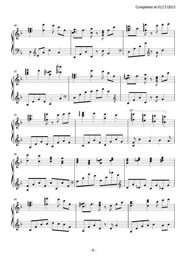 千本樱钢琴谱 第4页