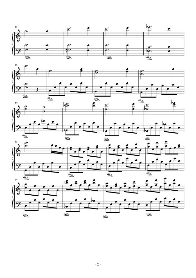 花殒钢琴谱 第2页