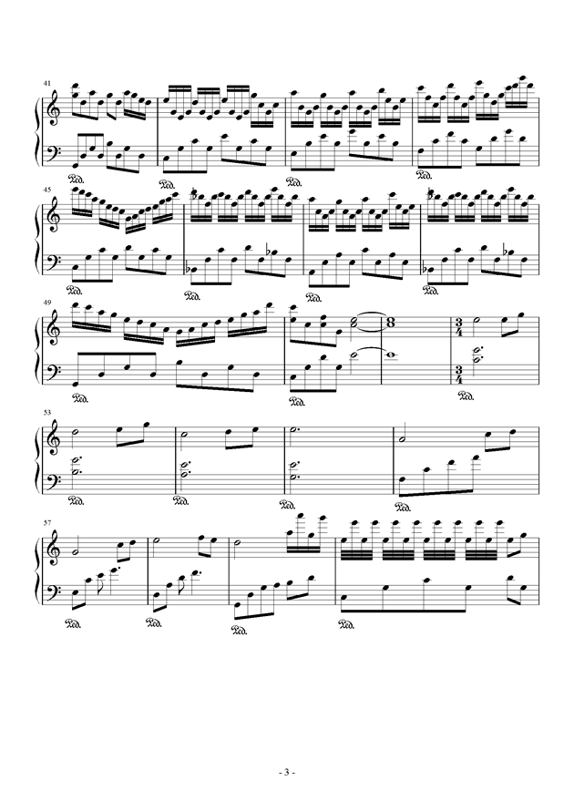 花殒钢琴谱 第3页