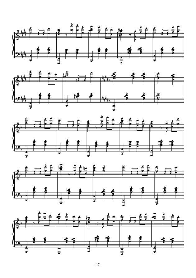 Capriccio For jubeat钢琴谱 第17页