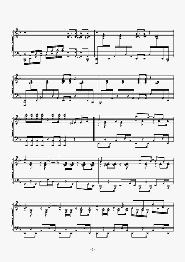 Capriccio For jubeat钢琴谱 第2页