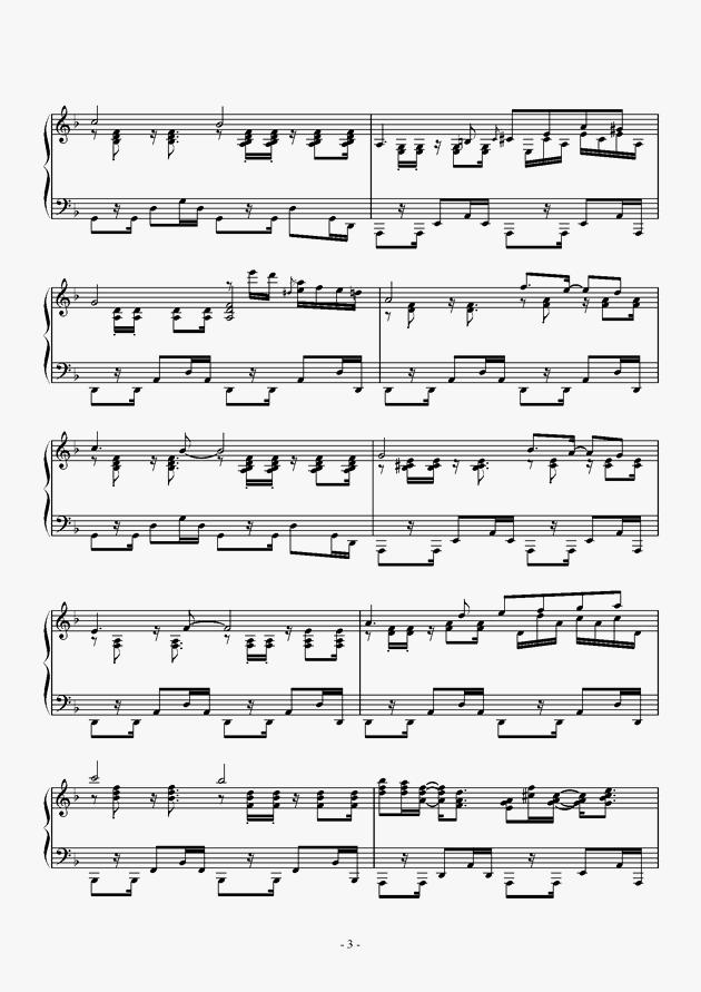 Capriccio For jubeat钢琴谱 第3页