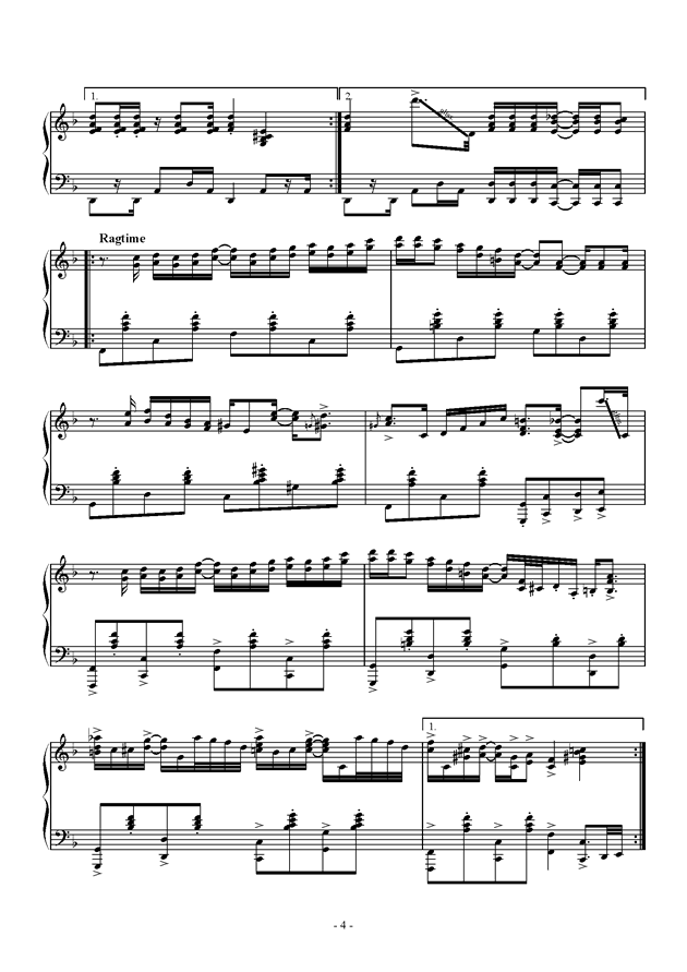 Capriccio For jubeat钢琴谱 第4页