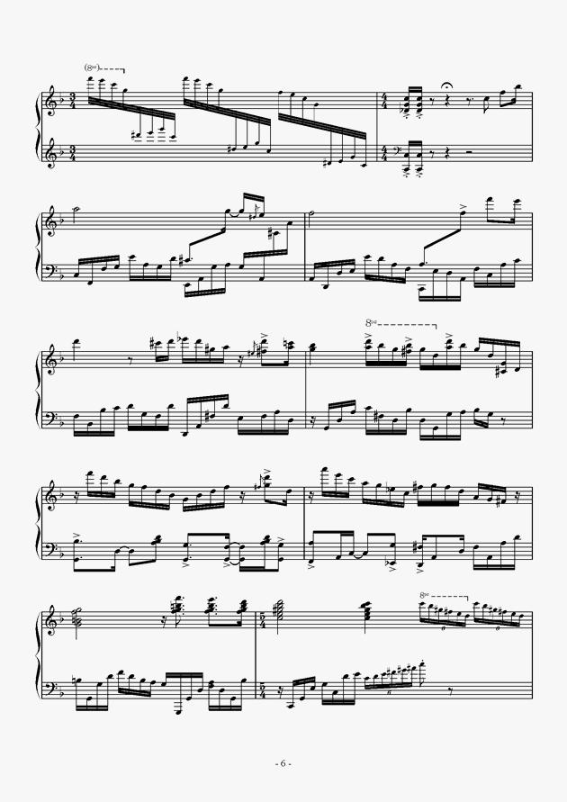 Capriccio For jubeat钢琴谱 第6页